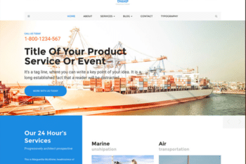 Free Product Shipping Plus Logistics HTML Template