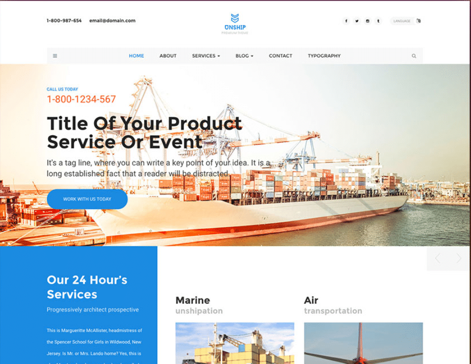 Free Product Shipping Plus Logistics Html Template Designhooks