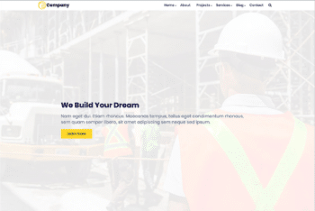 Free Clean Construction Website HTML Template