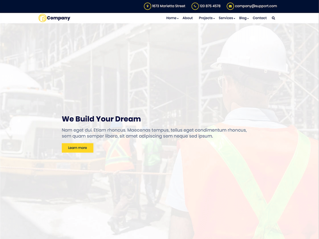Clean Construction Website