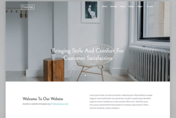 Free Woodworks Interior Design HTML Template