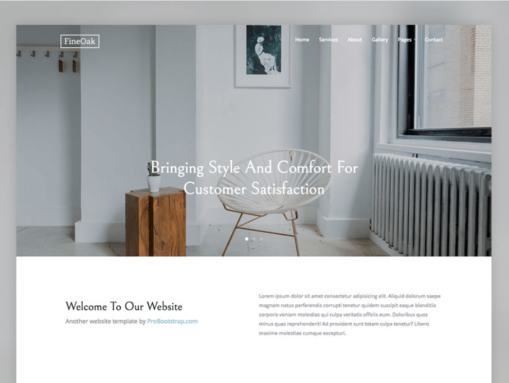 Charmant Free Woodworks Interior Design HTML Template