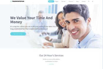 Free International Transportation Service HTML Template