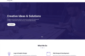Free Simple Business Portfolio HTML Template