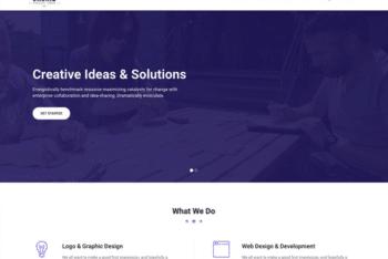 Free Simple Business Portfolio HTML Template