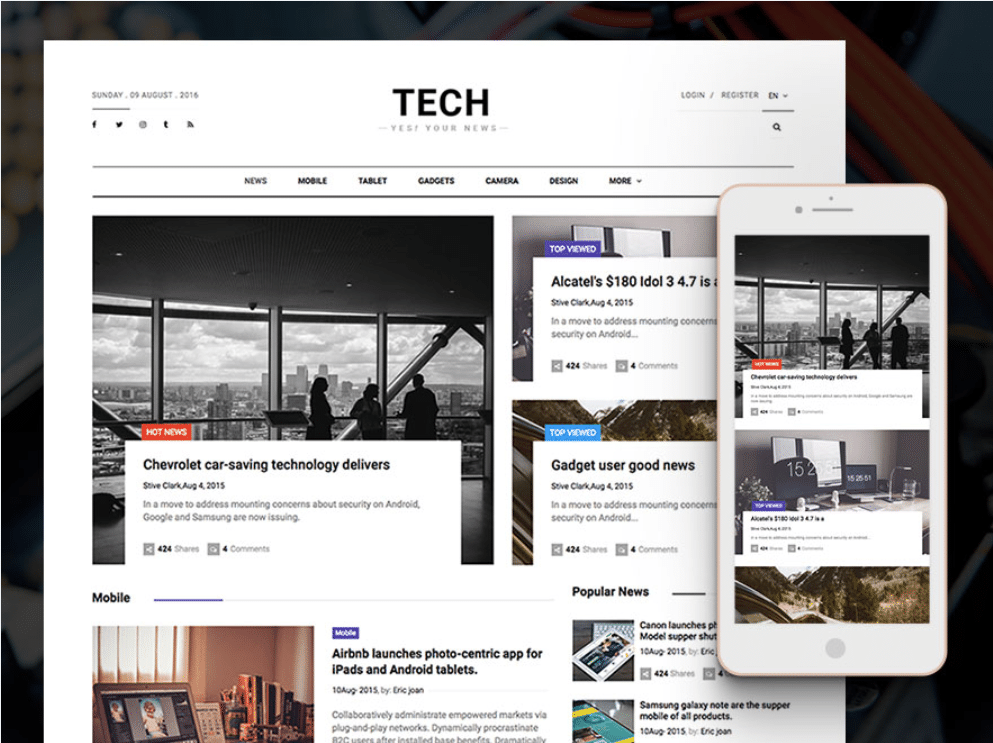 Free Technology News Website Html Template