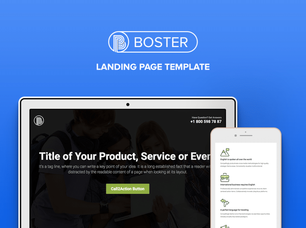 Tech Friendly Landing Page