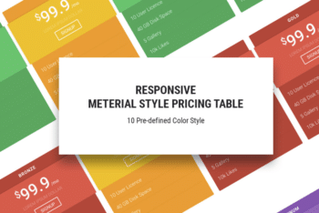 Free Colorful Online Pricing Table HTML Template