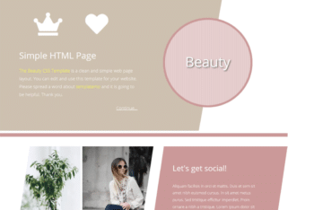 Free Beauty Blog Website HTML Template