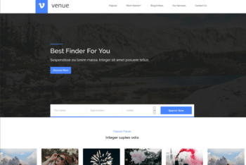 Free Travel Venue Website HTML Template