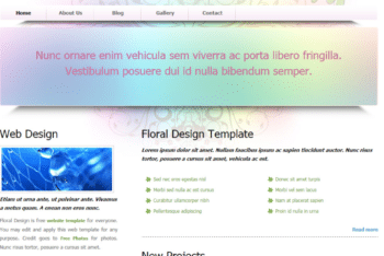 Free Floral Website Design HTML Template