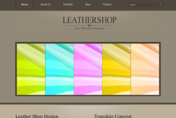 Free Leather Website Theme HTML Template