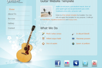 Free Guitar Lover Website HTML Template