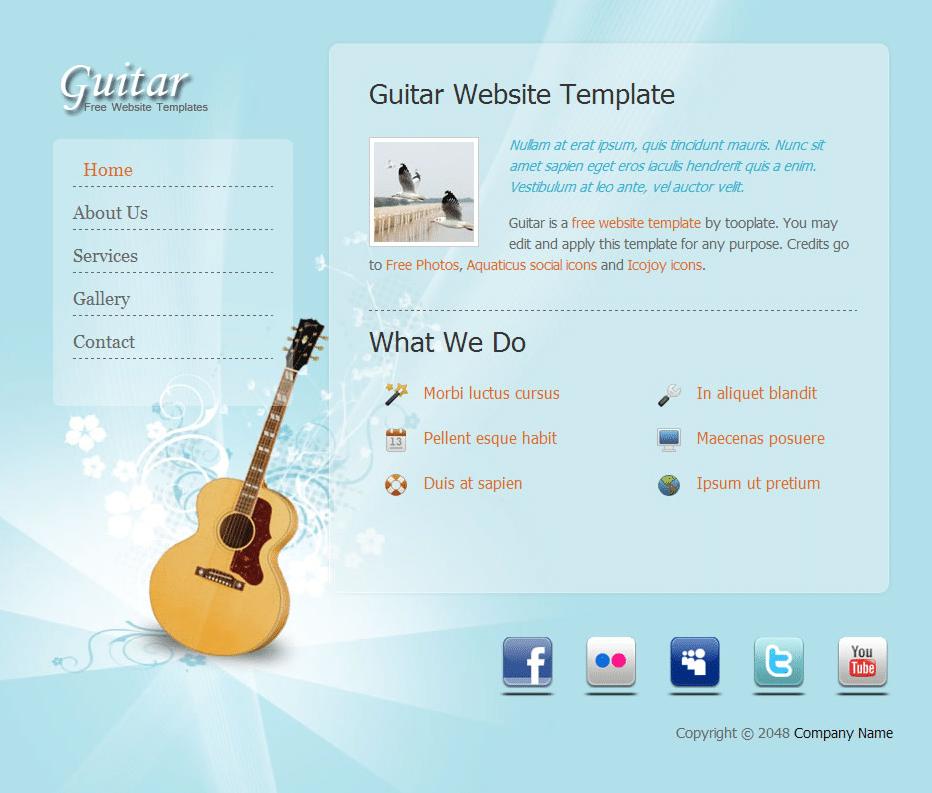 Guitar Lover Website