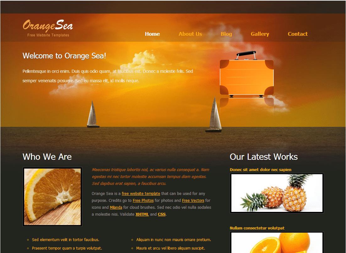 Sunny Orange Website