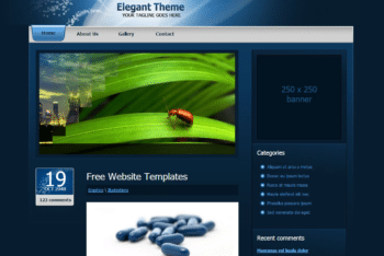 Free Elegant Blog Theme HTML Template