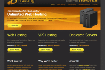 Free Matte Web Hosting Design HTML Template