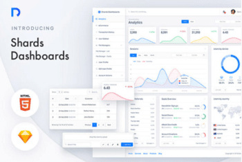 Free Simple Website Dashboard HTML Template