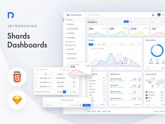 Simple Website Dashboard