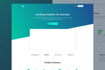 Free Startup Landing Page HTML Template