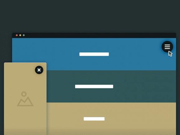 Website Cards Navigation