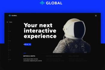 Free Awesome Futuristic Portfolio HTML Template