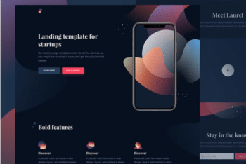 Free App Presentation Website HTML Template