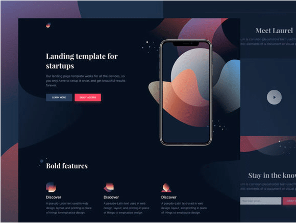 App Presentation Website