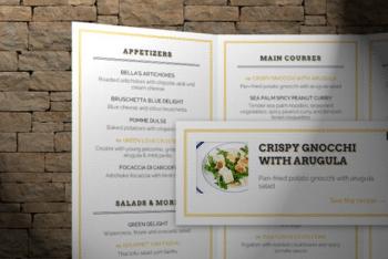 Free Online Restaurant Menu HTML Template