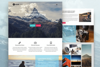 Free Awesome Mountaineering Website HTML Template