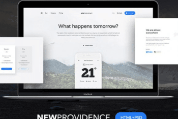 Free Event Landing Page Website HTML Template