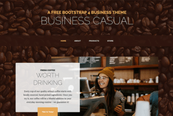 Free Casual Business Website HTML Template