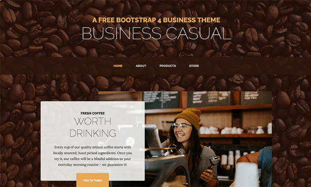 Casual Business Website