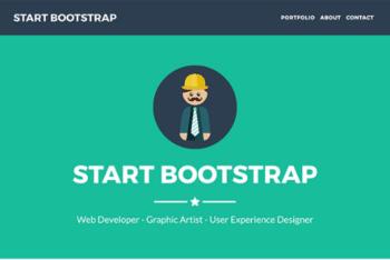 Free Minimalist Freelancer Portfolio HTML Template