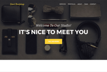 Free Stylish Agency Portfolio HTML Template