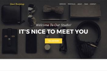 Free Stylish Agency Portfolio HTML Template