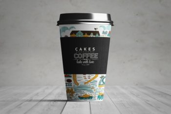 Beautiful Paper Coffee Cup Mockup – Available in PSD Format