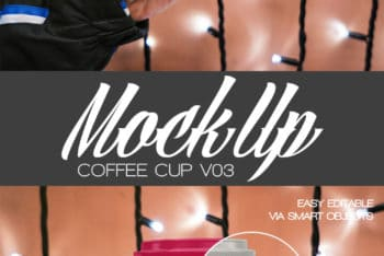 Download Free Coffee Cup PSD Mockup For Branding