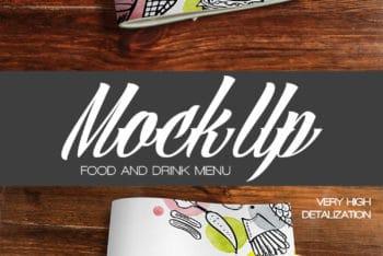2 Food and Drink Menu PSD Mockups Free Download