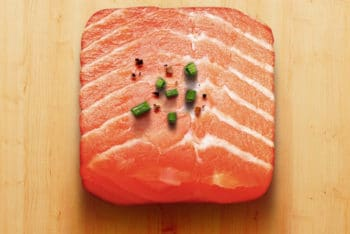 Free Raw Salmon Steak Mockup in PSD