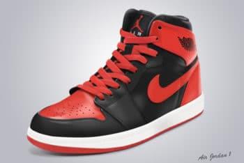 Free High Cut Nike Shoes Mockup in PSD