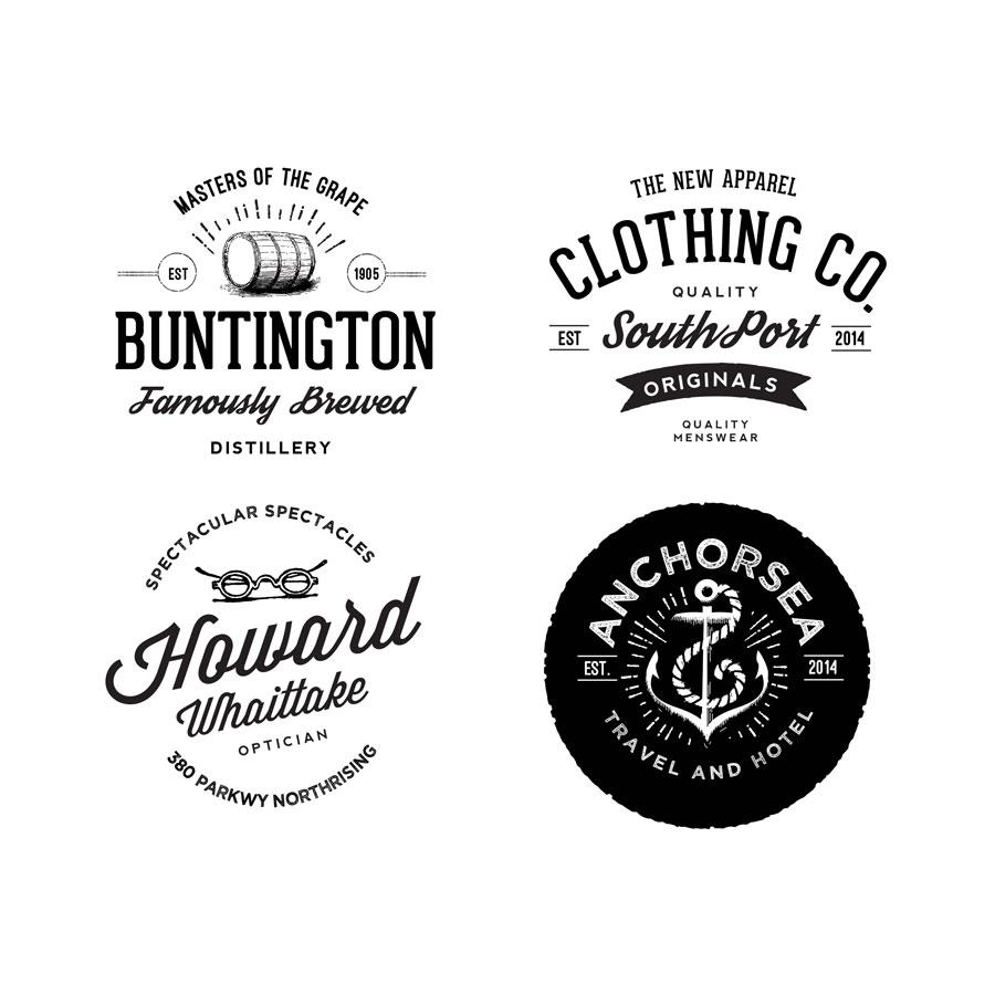 Vintage Clothing Line Logo