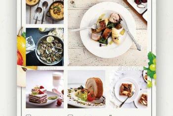 Free Classy European Restaurant Flyer Mockup in PSD