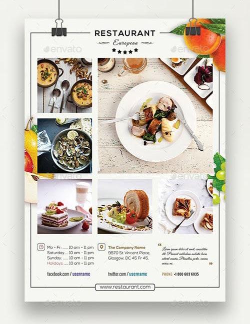 Classy European Restaurant Flyer