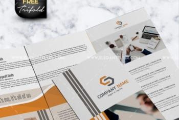 Tri-fold Business Brochure PSD Mockup for Designing Impressive A4 Sized Corporate Brochures