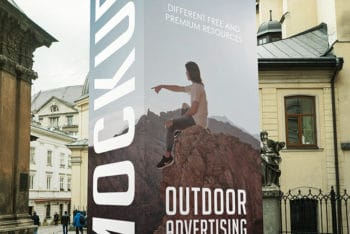 Display Board PSD Mockup for Outstanding Outdoor Advertising