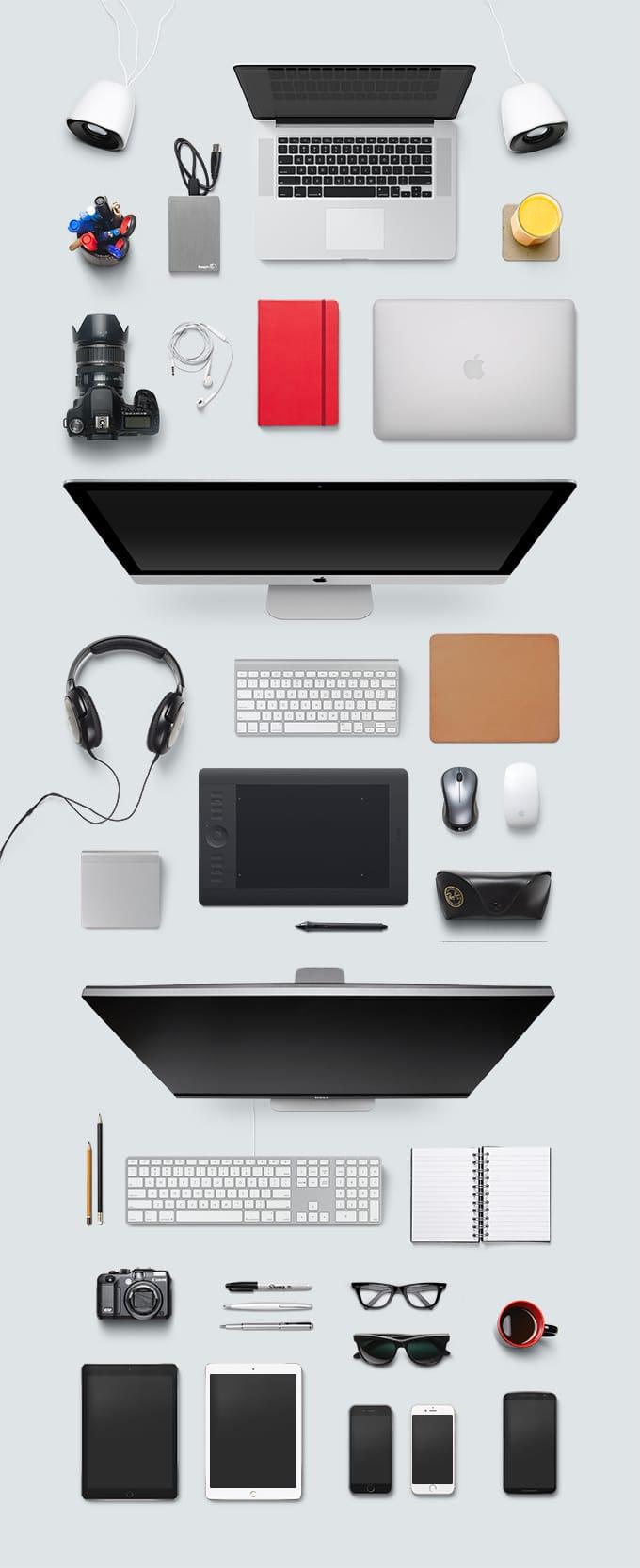 Top View Designer Desk