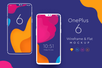 Free OnePlus 6 Flagship Phone Mockup in PSD