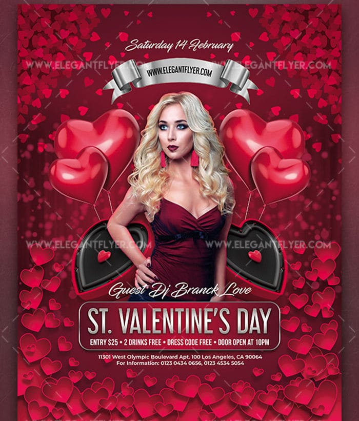 Valentine's Day Special Flyer Mockup Download For Free