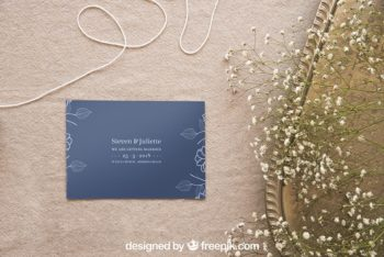 Beautiful Wedding Stationery PSD Mockup Set